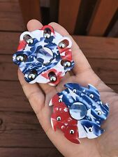 Newest US Flag Style 2 pcs/set Fidget Toy Small Hand Spinner US Seller,