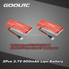 GoolRC 2Pcs 3.7V 600mAh 25C Lipo Battery for Syma X5C X5SC X5SW JJRC H5C NM W1P4