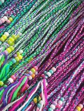 20 clip in hair braids hair wrap hair accessory hand made. Assorted colours