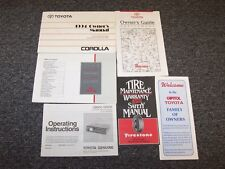1994 Toyota Corolla Sedan Owner Owner's Operator User Guide Manual Set DX LE