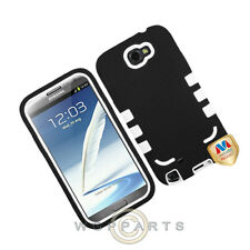 Samsung N7100 Note 2 TUFF eNUFF Hybrid Case Black/White Cover Shield Shell