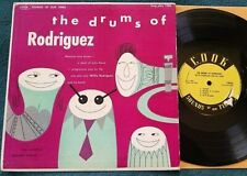 "Willie Rodriguez - The Drums Of... 10"" LP Cook 1086 latin jazz VG-"