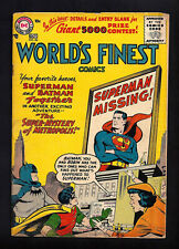 WORLD'S FINEST #84  GOOD+ 2.5!   BRIGHT YELLOW COVER!  1956