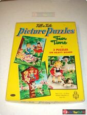 ©1956 Whitman Tell-a-Tale Picture Puzzles • 3 Puzzles • Fun Time • 4429:29