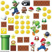 Super MARIO Brothers Wall Stickers Build A Scene 45 Pcs Nintendo Decor Luigi USA