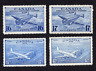 Canada #CE1 to CE4 Complete Air Mail Special Delivery Issues MNH