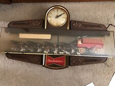 Antique-Vintage Budweiser Clydesdale Horse and Wagon (indoor) clock.