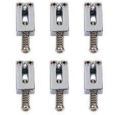 6 Bridge Tremolo Sättel mit Schraubenschlüssel für Fender Strat Tele e-Gitarre