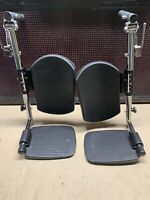 Wheelchair Foot Rests Pair Set Chrome Adjustable Padded Drive Quickie?