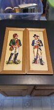 2 Vintage mid century 3d soldier wall plaques. Washington's Bodyguard, Dragoon.