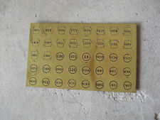 Vintage Ho O Scale Brass Sheet with Prr Other Signs Look