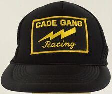 Cade Gang Racing Black Mesh Trucker Hat Cap with Snapback Strap Adjust