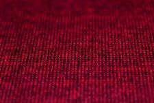 Plain Melange Effect Wool Type Knit Jersey Dress Fabric Material (Wine/Black)