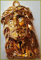 Rarität Pilger Anhänger ECCE HOMO Jesus 18K Vergoldet + 925 versilbert