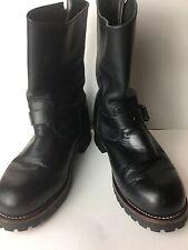 Caterpillar Steel Toe Oil Resistant Black Work Boots 12 M CAT EUC