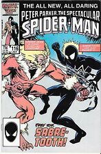The Spectacular Spider-Man #116 Black Suit Marvel 1986 Sabre-tooth story VF/NM