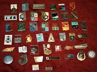 Set of 45 badges Soviet Russia USSR Different (ZN174)