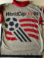RARE TEE SHIRT VINTAGE ADIDIAS WORLD CUP USA 1994 // TAILLE L