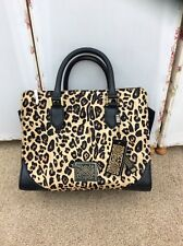 Stunning Biba Leopard Print Kiera Calf Hair Leather Winged Handbag - BNWT