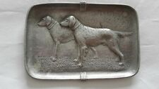 Pure Aluminium Sand Cast Presentation Tray Two Gun Dogs R W Coan Clacton