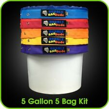 BUBBLEBAGDUDE Bubble Bags 5 Gallon 5 Bag Set - Herbal Ice Bubble Bag Essence -