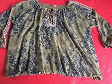 Joe Browns BOHEMIAN CHIC BLOUSE Tunic Top Floral Print Plus Size 32