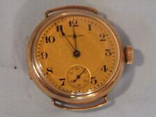 OLD WALTHAM LADY'S GOLD FILLED WRISWATCH CASE - FINE GOLD DIAL
