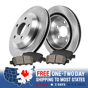For 2015 CHEVROLET CHEVY SS Rear Brake Disc Rotors Ceramic Pads