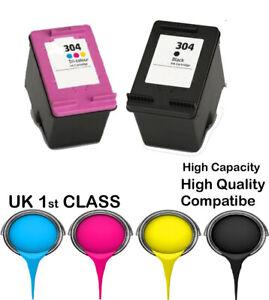 2 Compatible Ink Cartridge For HP 304,  deskjet 3720 3730