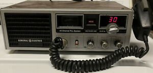 General Electric 3-5869A CB Radio Base Station w/Mic