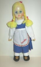 """VINTAGE 1990'S SWISS MISS HOT COCOA ADVERTISING MASCOT CLOTH & VINYL DOLL 13"""""""
