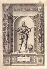 Franz von Castelalt- Incisione originale G.B. Fontana, D. Custos 1600