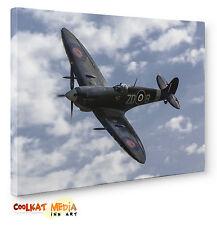 WW2 RAF Aircraft Planes Spitfire Canvas Print War Wall Art a1 a2