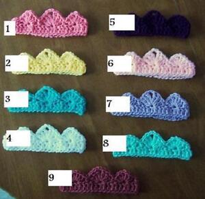 U CHOOSE! Crochet BABY TIARA CROWN Headband girl MADE IN USA! Pink PHOTO PROP