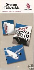 Airline Timetable - Dragonair - 26/03/00 - Issue 1