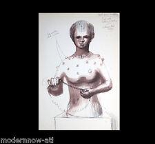 Henry MOORE Lithograph -Figure Sculpture- Ed.107/150 +Cat.Ref. c41 +Custum FRAME