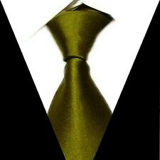 D.berite Pickle green Solid Men's Wedding Groom Neck Tie 100% Silk Necktie S17
