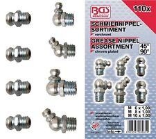 Schmiernippel-Sortiment gerade 110-tlg. 110-tlg. 6x1,8x1,25,10x1,5 BGS