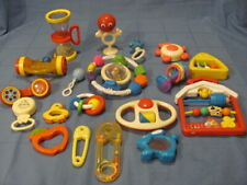 Assorted Lot Vtg Fisher Price Evenflo First Years Baby Toys, Rattles, Teethers
