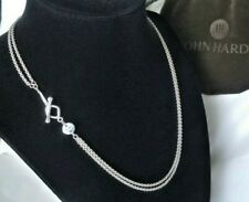 John Hardy - Double Rolo Sterling Silver Chain Link Necklace - Stunning!