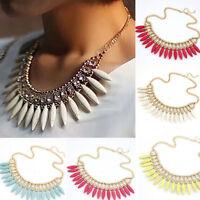 Fashion Charm Crystal Choker Chunky Statement Bib Necklace Pendant Chain Jewelry