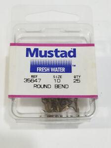 25 x Bronze Size 10 Round Bend Mustad Treble Hooks 35647 Fishing Tackle