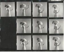 Hendrickson PHOTO Contact Sheet & Negatives Nude Model Victorian Big Hat Mirror