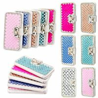 Luxury Bling Bowknot Crystal Diamond Wallet Flip Case Cover For iPhone 7