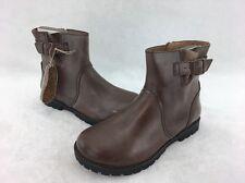 Birkenstock Women's Stowe Brown Leather Ankle Boot Size 38 US 7C  RH11789^
