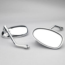 Universal Motorcycle Mirrors For Shadow VTX Honda Suzuki Kawasaki 10mm Chrome