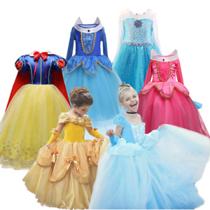 Kids Girl Sleeping Beauty Princess Aurora Costume Party Fancy Dress Size 4-10