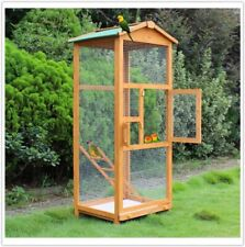 Outdoor Wooden Bird Aviary Bird Cage Indoor Small Birds Parrot Finches Canary UK