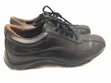 Allen Edmonds Mens Black Leather Sneakers Shoes Size 10D
