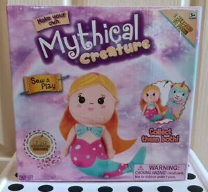 Stuff,Sew,Play-Make Your Own Mythical Mermaid Creature wth Birth Certificate NEW